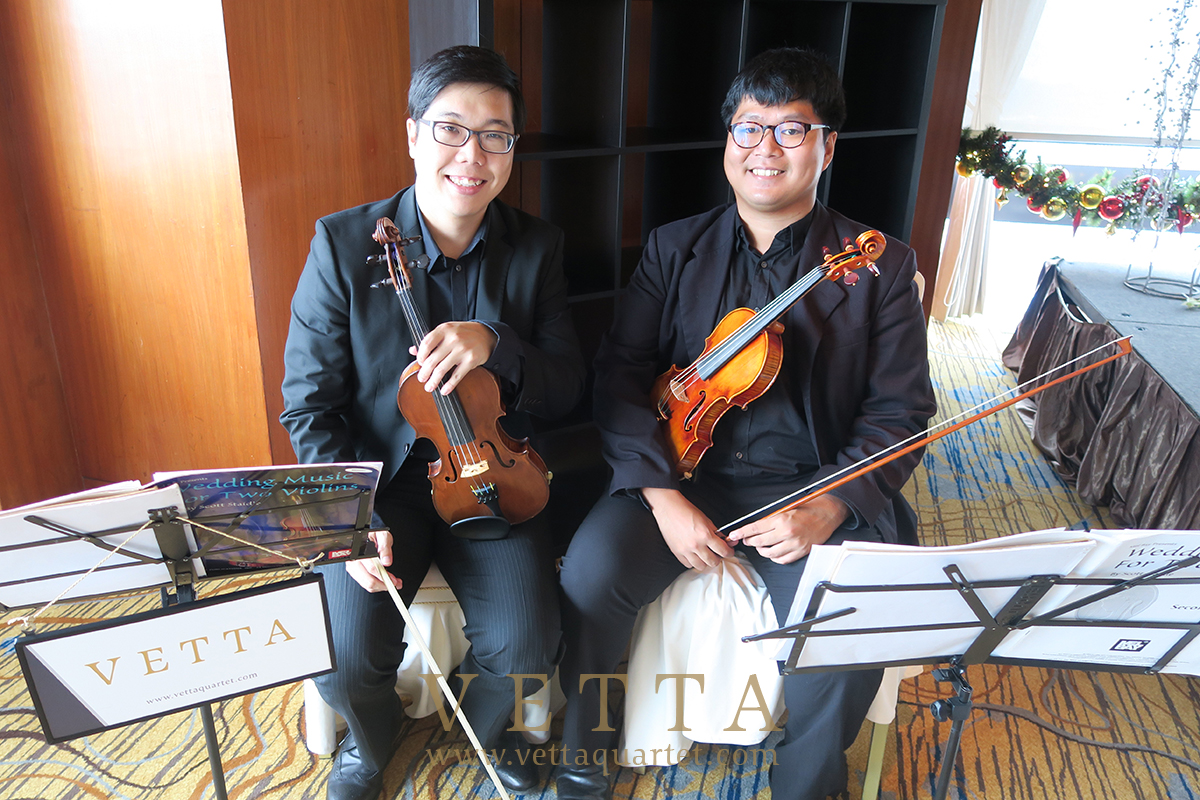 Violin Duo for Wedding at Swissotel Sky Suites