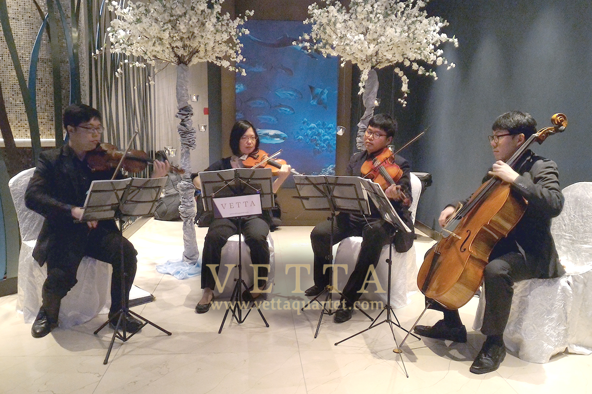String Quartet for Wedding at Cat Cora Ocean Restaurant Sentosa