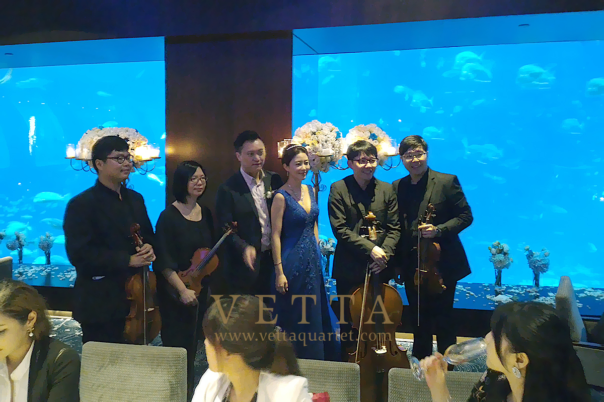 String Musicians for Wedding at Cat Cora Ocean Sentosa