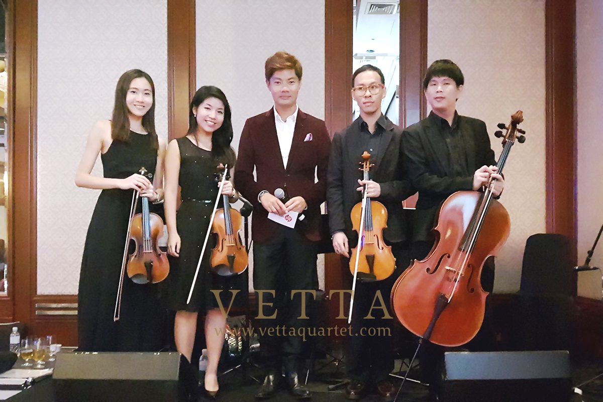 Live String Quartet for Company Dinner Singapore