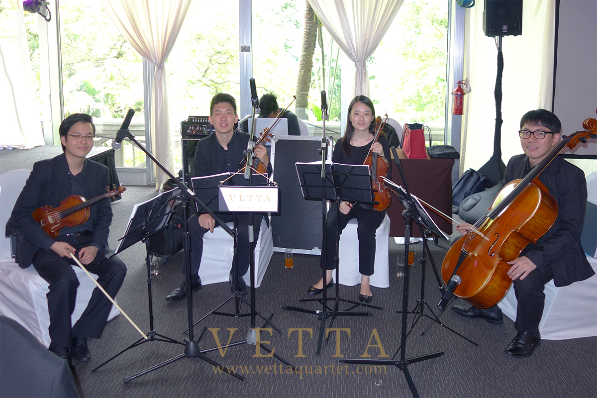 String Quartet Music for wedding at Hotel Fort Canning, Grand Marquee