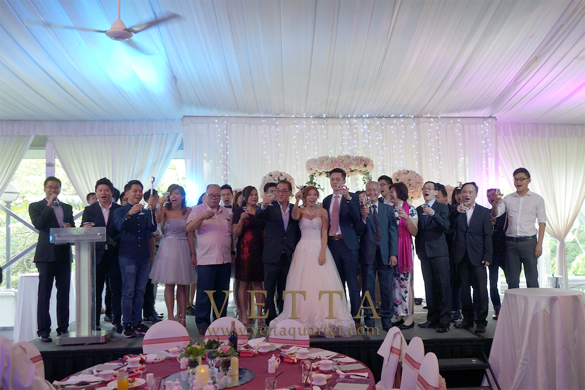 Background Music for wedding at Hotel Fort Canning, Grand Marquee