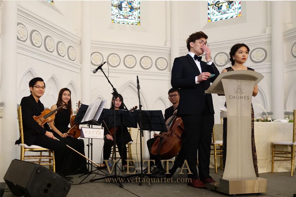 String Quartet for Nicholas's Wedding at CHIJMES
