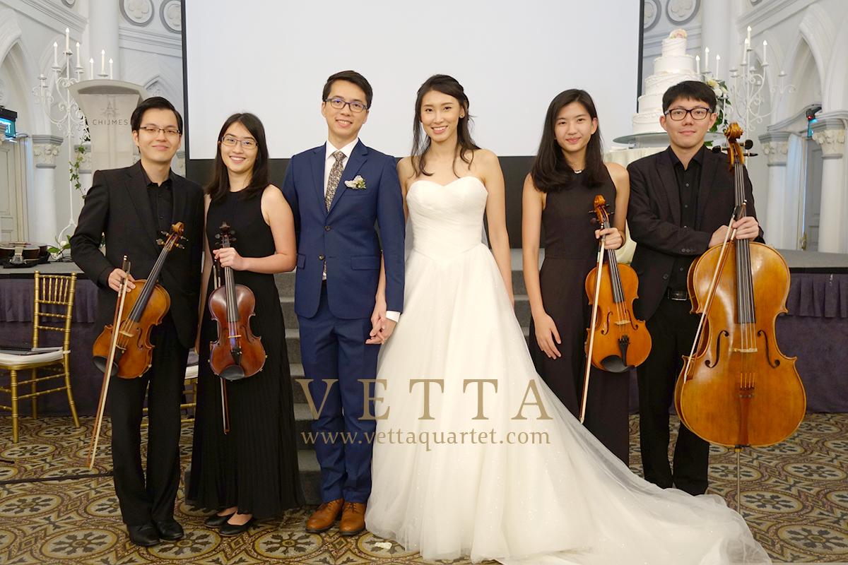 String Quartet for Cayrn's Wedding at CHIJMES