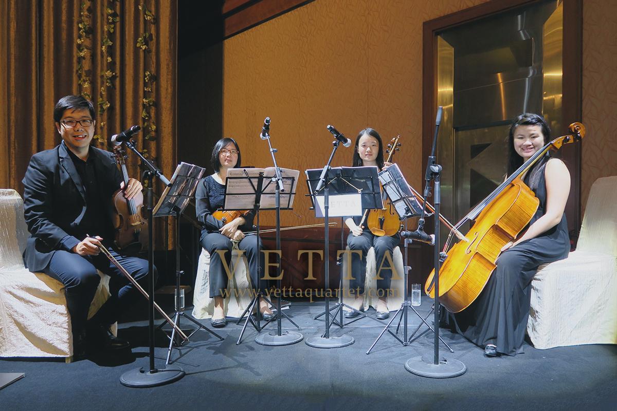 Live String Quartet for Wedding at Swissotel