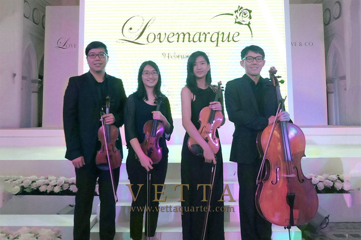 String Quartet for Product Launch of Lovemarque at CHIJMES