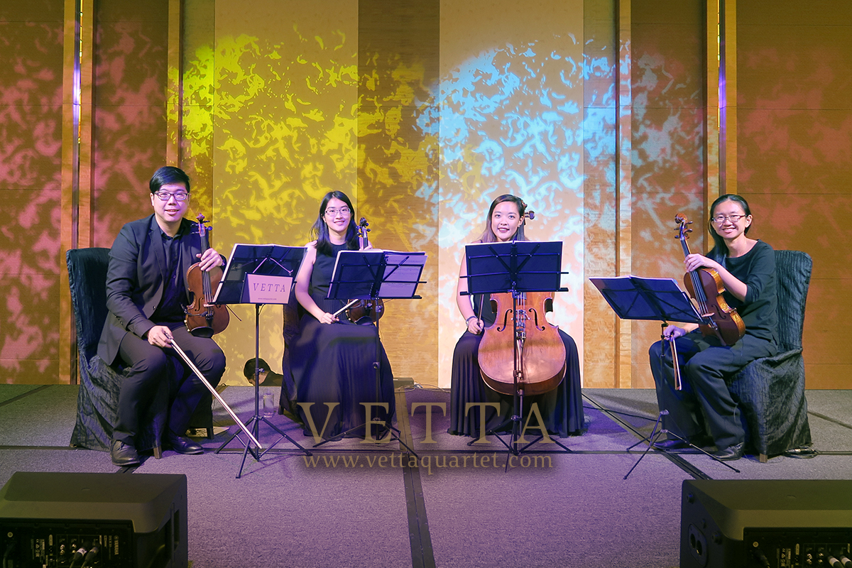 Live String Quartet for Corporate Gala Dinner at MBS