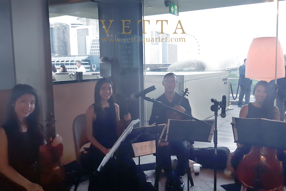 Live String Quartet for Corporate Dinner at Aura Sky Lounge