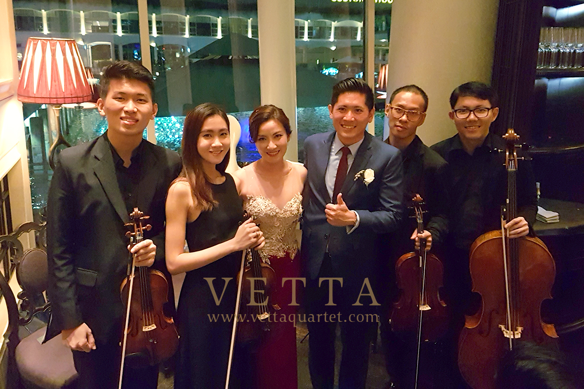 Live String Musicians for Wedding at Fullerton Bay Hotel