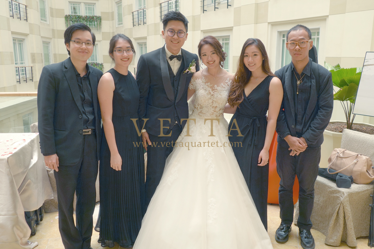 String Music for Cindy and Caleb wedding at Fullerton Hotel - Straits Room
