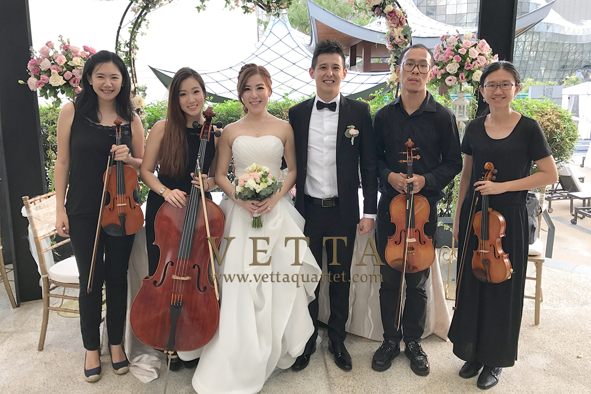 Live String Music for Cheryl and James wedding at Marriott Tang Plaza