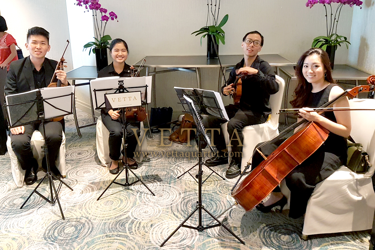 Live String Musicians for wedding at Mandarin Oriental Garden Suite
