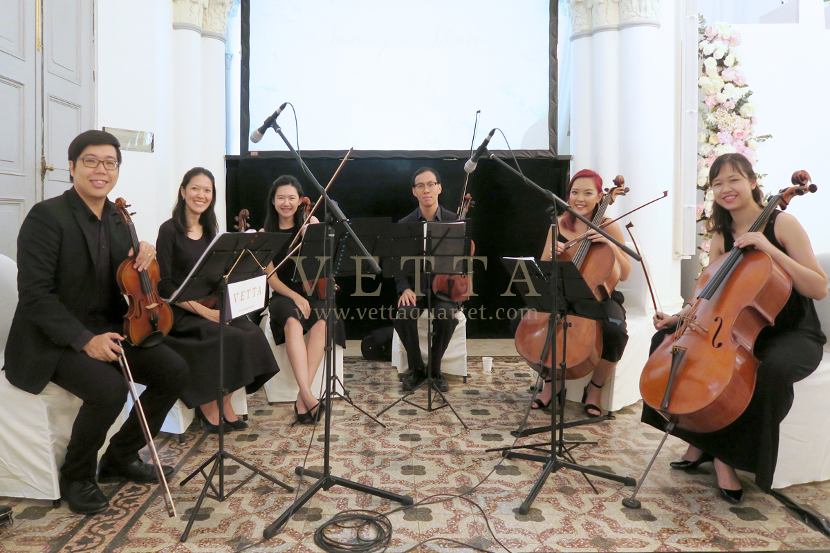 Six String Band for Singapore wedding at CHIJMES