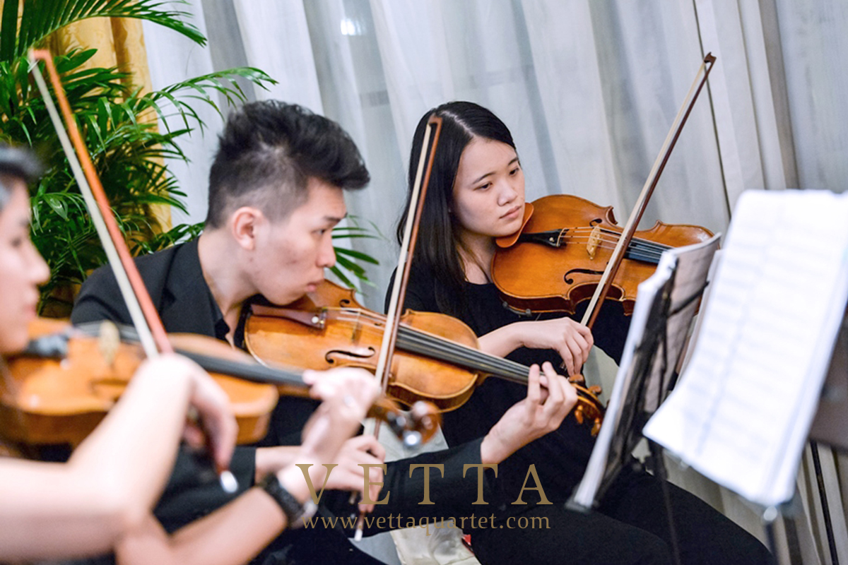 Live String Quartet for Dinner event by Ministry of Transport