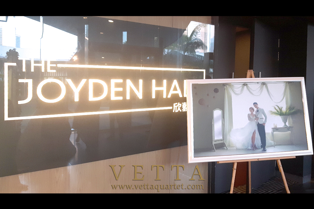 VETTA String Quartet at Wedding at Joyden Hall, Bugis plus