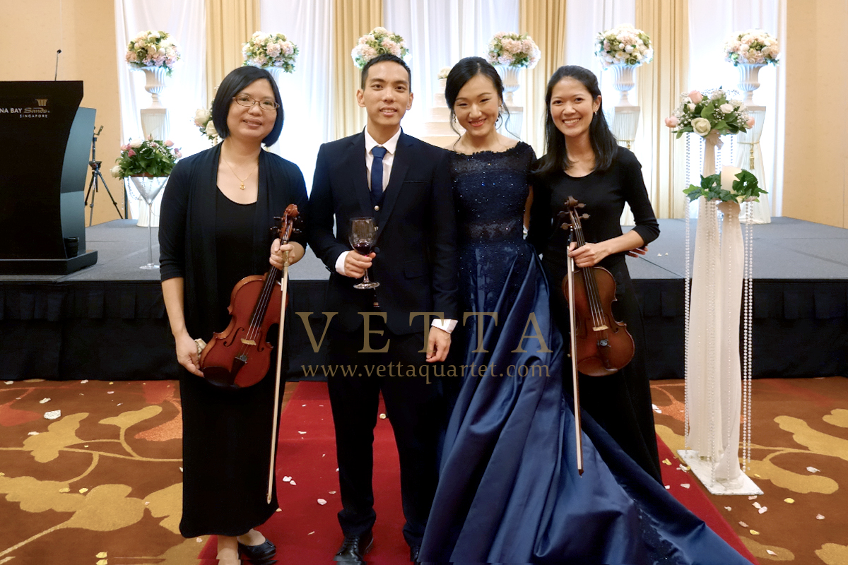 Violin Duo for Wedding Solemnisation at Marina Bay Sands