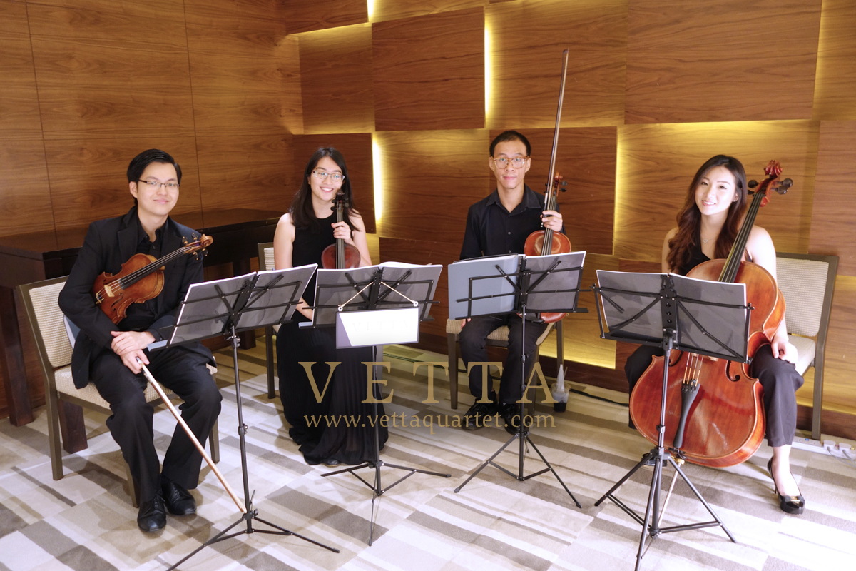 Live String Quartet for wedding at Grand Hyatt Hotel Singapore