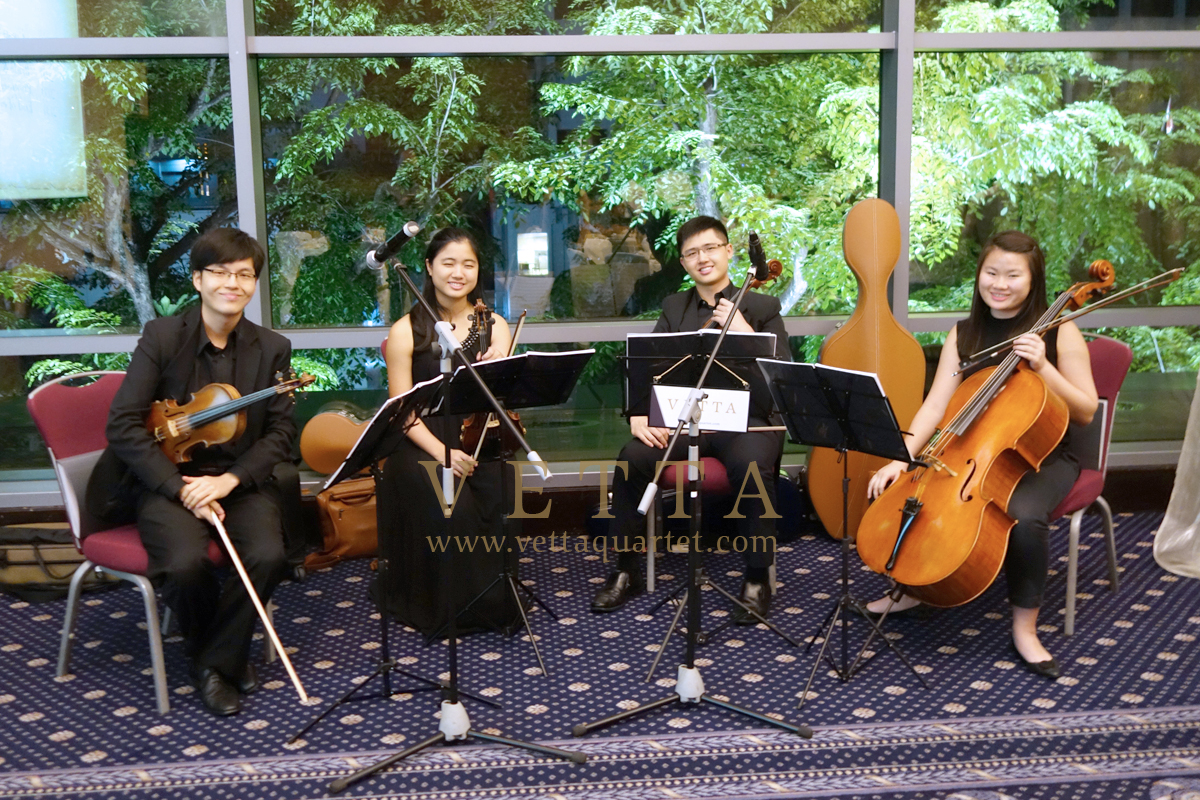 String Musicians for Sarah wedding at Royal Plaza on Scotts