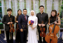 String Quartet for Sarah Zul's wedding at Royal Plaza on Scotts