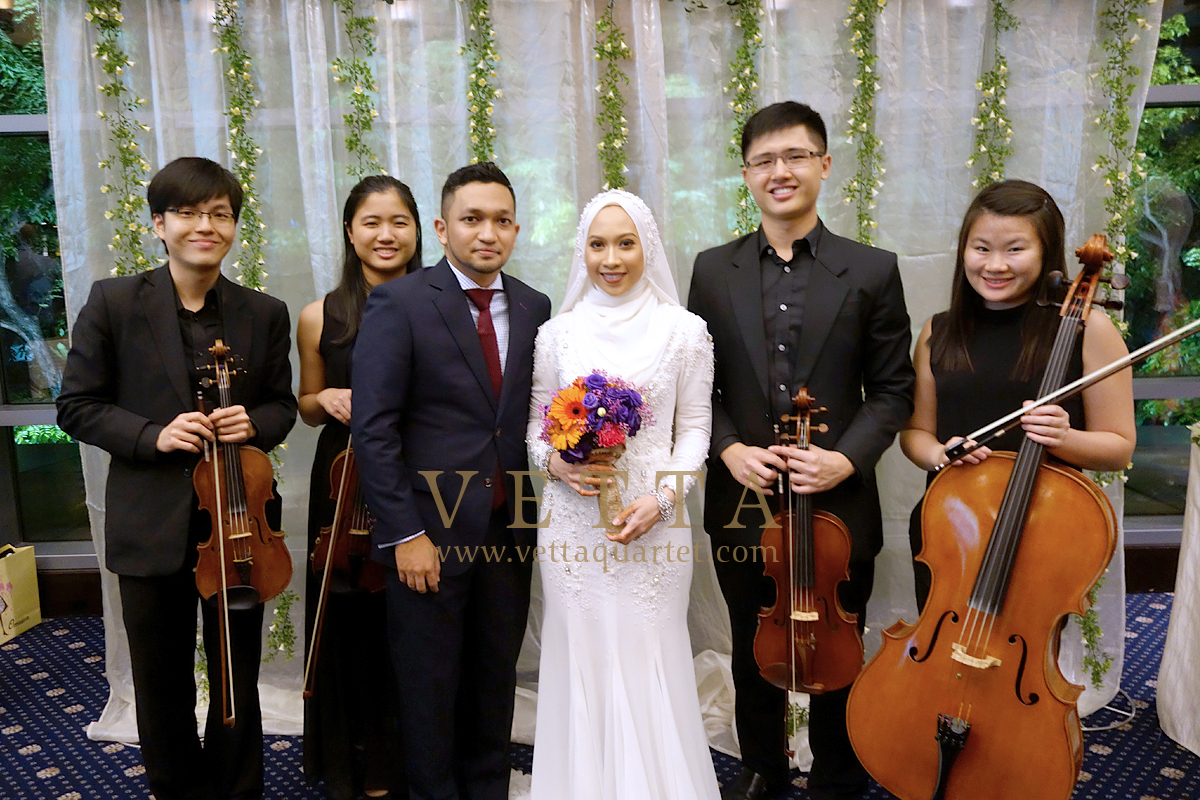 String Quartet for Sarah wedding at Royal Plaza on Scotts