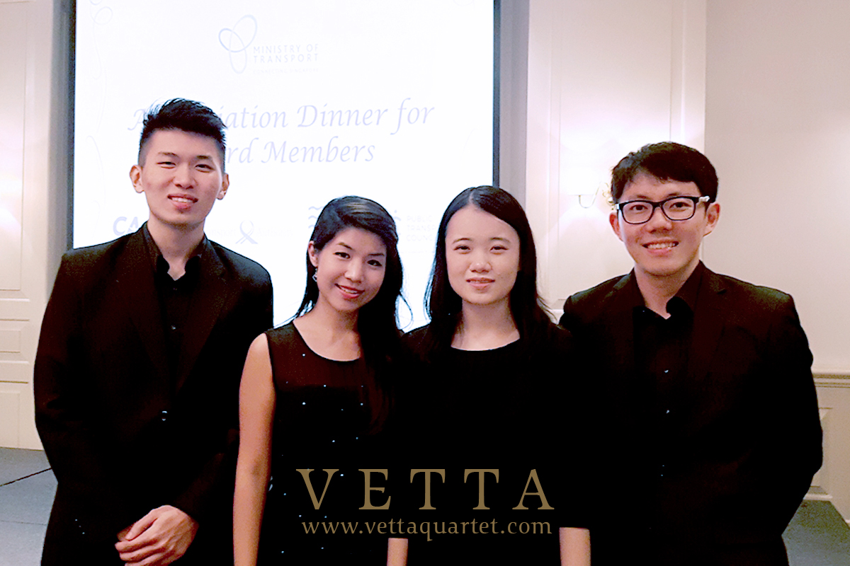 VETTA Four String musicians for dinner event by Ministry of Transport Singapore