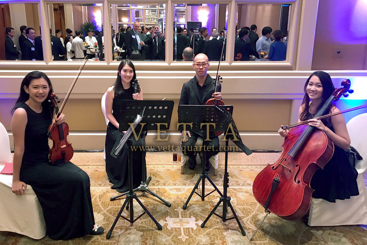 String Quartet for Corporate event at Conrad Centennial Hotel Singapore