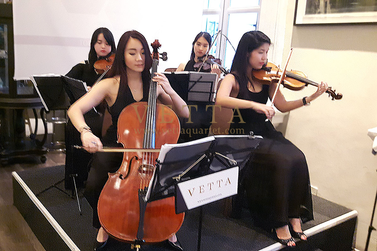 Live All-ladies Female String Quartet for Corporate dinner at Flutes National Museum