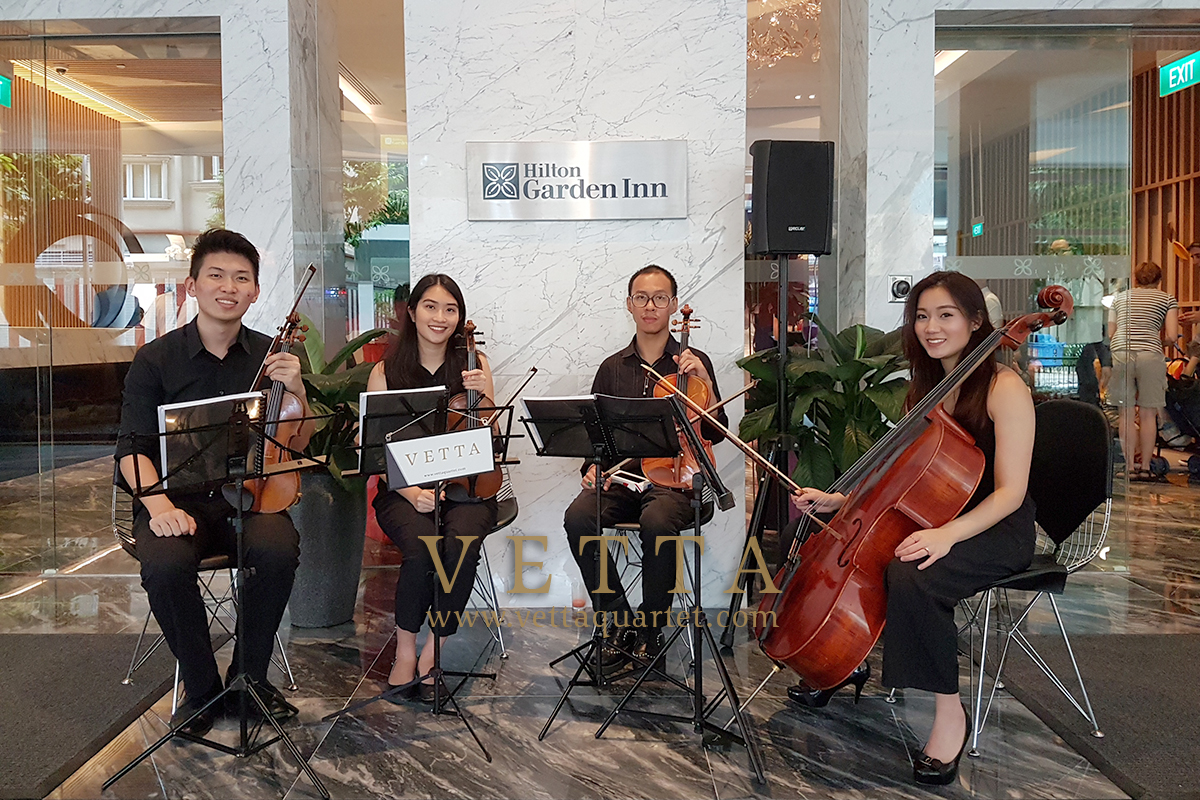 Live String Quartet for Hilton Garden Inn's opening event