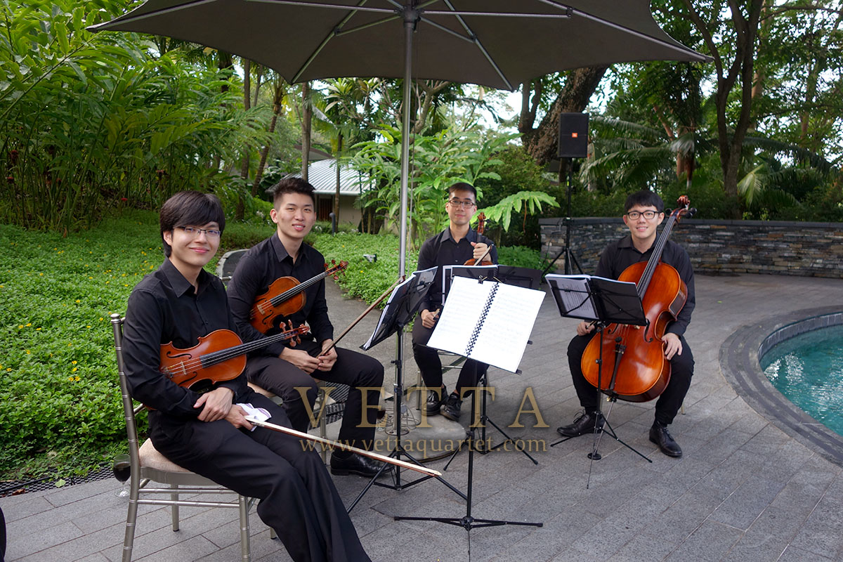 String Quartet for Solemnization at Capella Outdoor poolside