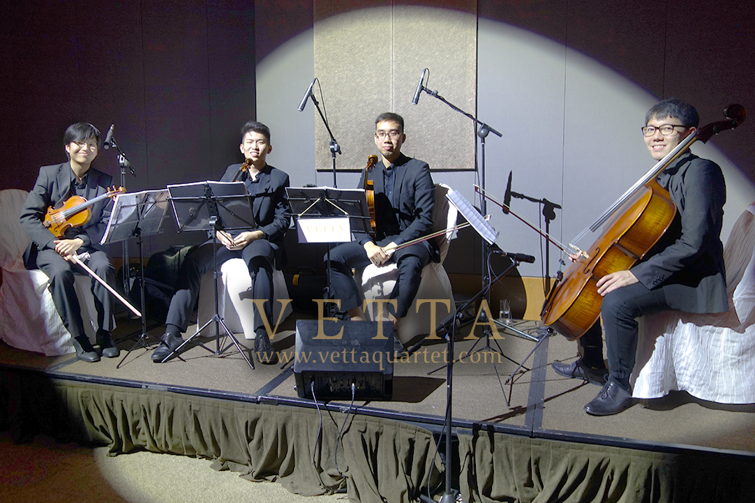 VETTA String Musicians for wedding banquet at Capella