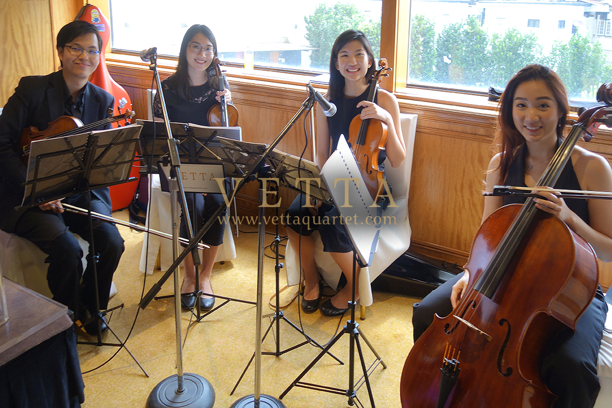 Singapore String Quartet music for Kenneth's Wedding at Regent Hotel