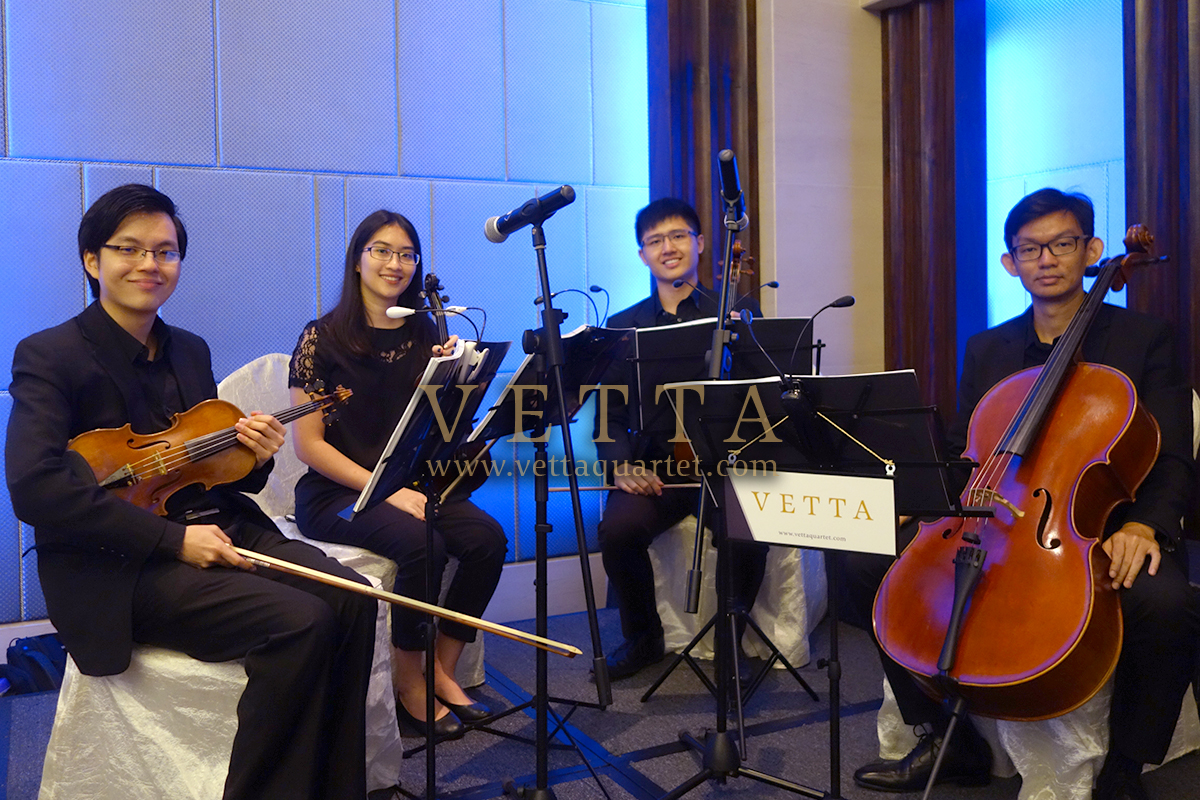 Classical String Quartet for Wedding banquet at Carlton Hotel