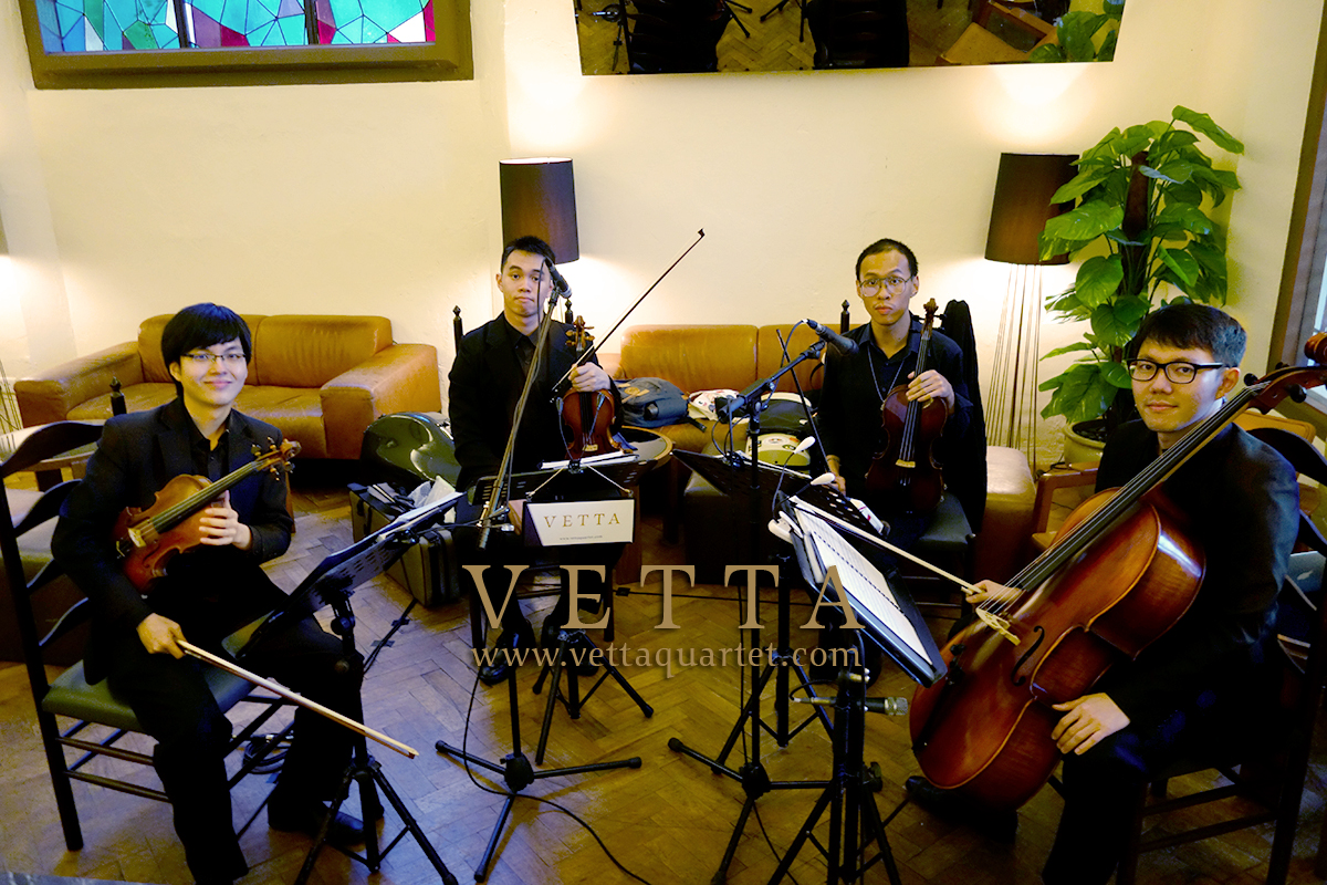 Four String Musicians for Wedding banquet at The White Rabbit