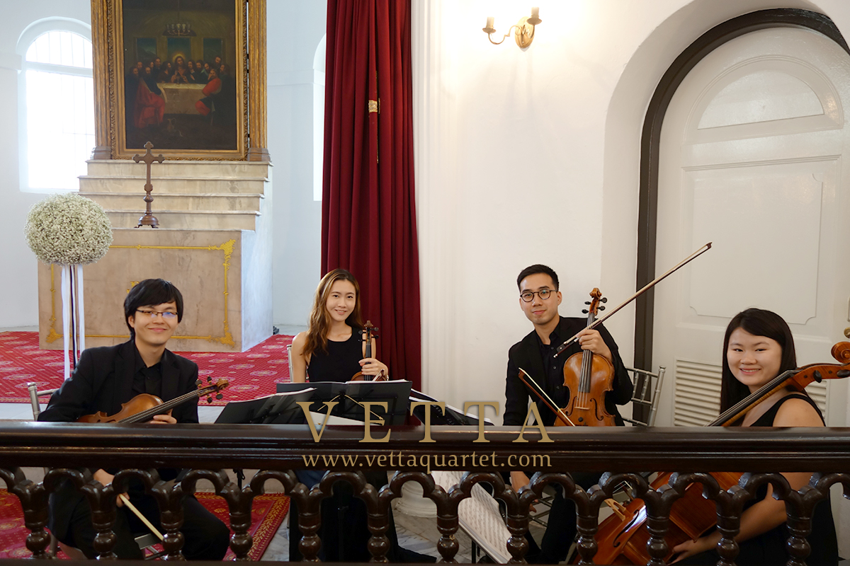 String Quartet providing background music for Wedding at Armenian Church