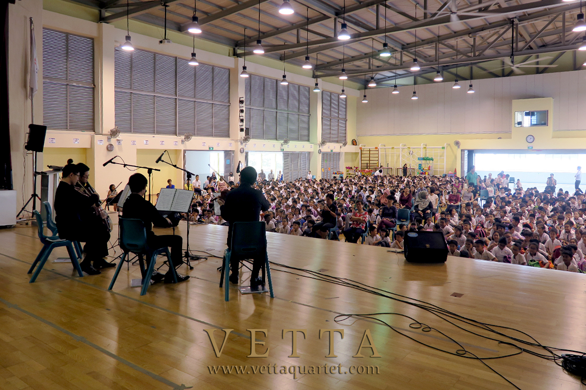 Live musicians teaching at  Primary School Singapore Educational music